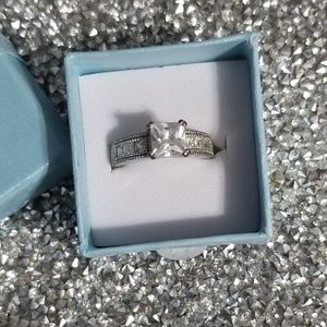 925 Silver Square Ring